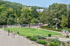 Parque de Livadia. El ajardinar. Yalta. Crimea. Ucrania. Imagenes de archivo