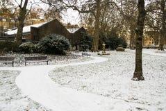 Parque de Londres en la nieve Imagen de archivo