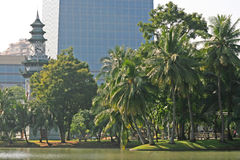 Parque de Lumpini, Tailândia Imagens de Stock Royalty Free