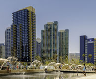 Parque de margem, San Diego do centro, Califórnia imagens de stock royalty free