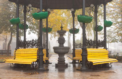 Parque de Mariinsky en Kiev Fotografía de archivo
