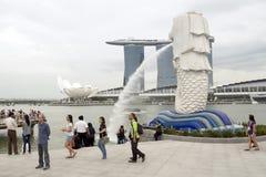 Parque de Merlion, Singapur Foto de archivo