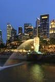 Parque de Merlion, Singapur imagen de archivo