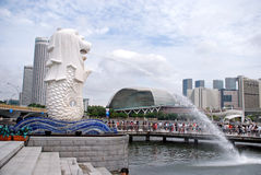 Parque de Merlion, Singapura Fotografia de Stock Royalty Free