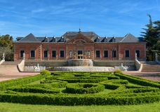 Parque de Montjuic, jardins de Joan Maragall e palácio Albeniz, Barcelona fotos de stock