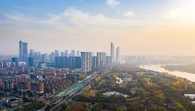 Parque de Nanjing Binjiang foto de stock royalty free