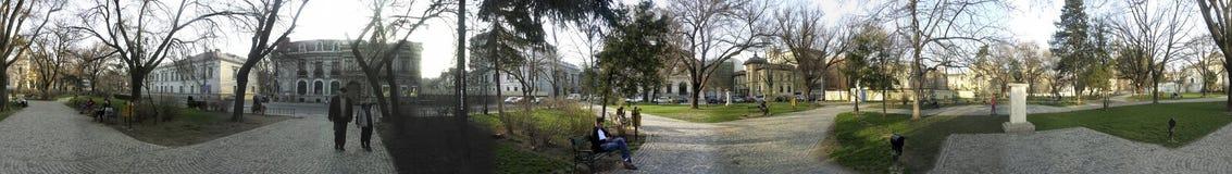 Parque de Nicolae Iorga, Bucarest, 360 grados de panorama Fotografía de archivo libre de regalías