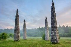 Parque de Nikola Lenivets National, região de Kaluga, Rússia foto de stock