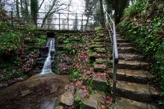 Parque de Ninesprings em Yeovil fotografia de stock