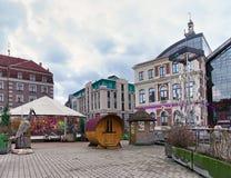 Parque de ocio Egle en la Navidad Riga Foto de archivo libre de regalías
