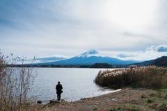 Parque de Oishi, lago Kawaguchiko, Japón imagenes de archivo