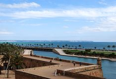 Parque de Palma de Majorca Fotos de archivo libres de regalías