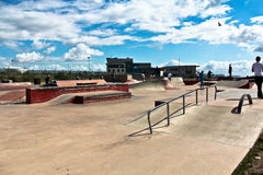 Parque de patinagem fotografia de stock royalty free