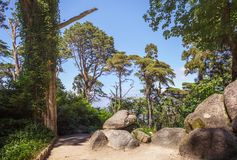 Parque de Pena en Sintra portugal imagenes de archivo