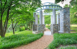 Parque de piedra Reston Virginia del Gazebo Foto de archivo