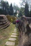 Parque de piedra rojo de la geología del bosque en la provincia de Hunán, China Imagenes de archivo
