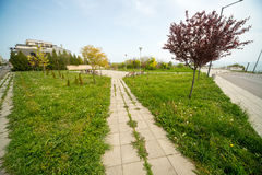 Parque de playa en el cuarto de Burgas de Sarafovo en Bulgaria fotografía de archivo libre de regalías