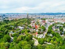 Parque de Prater em Viena foto de stock royalty free