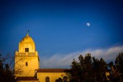 Parque de Presidio y la luna imagenes de archivo