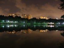 Parque de Punggol por noche Fotos de archivo libres de regalías