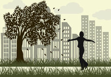 Parque de relajación de la ciudad Libre Illustration