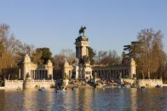 Parque de Retiro en Madrid Fotografía de archivo libre de regalías