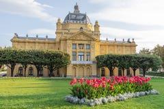 Parque de rey Tomislav en Zagreb Foto de archivo