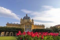 Parque de rey Tomislav en Zagreb Fotografía de archivo