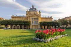 Parque de rey Tomislav en Zagreb Fotografía de archivo libre de regalías