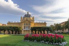 Parque de rey Tomislav en Zagreb Foto de archivo libre de regalías