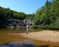 Parque de Rocky Falls en Missouri fotografía de archivo