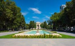 Parque de Samed Vurgun em Baku Fotografia de Stock