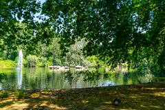 Parque de San Jaime en Londres, Reino Unido foto de archivo libre de regalías