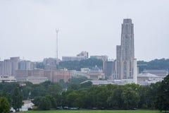 Parque de Schenley al lado de la universidad de estado de Pittsburgh en Pittsburgh, imagen de archivo libre de regalías