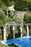 Parque de Scherrer em Morcote em Suíça imagens de stock