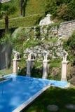 Parque de Scherrer em Morcote em Suíça fotografia de stock