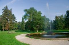 Parque de Stromovka en Praga Imagen de archivo libre de regalías