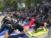 Parque de Taksim Gezi em guardar ativistas, quando esportes foto de stock royalty free