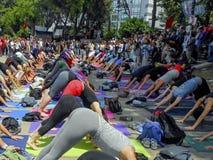 Parque de Taksim Gezi em guardar ativistas, quando esportes fotografia de stock royalty free