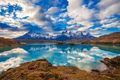 Parque de Torres del Paine Fotos de archivo