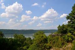 Parque de Tryon do forte que negligencia Hudson River foto de stock royalty free