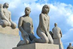 Parque de Vigeland en Oslo imagen de archivo