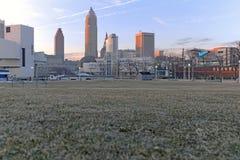 Parque de Voinovich em Cleveland do centro, Ohio, EUA imagem de stock