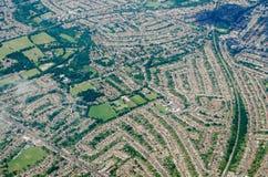 Parque de Worcester, Londres del sur - visión aérea Fotografía de archivo