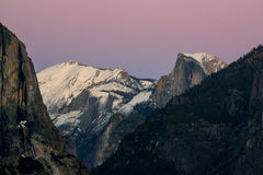Parque de Yosemite da opinião do túnel do por do sol, Califórnia Fotografia de Stock