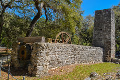 Parque de Yulee Sugar Mill Ruins Historic State Imagen de archivo