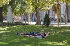 Parque de Zagreb fotos de stock royalty free