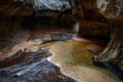 Parque de Zion - el subterráneo Fotos de archivo