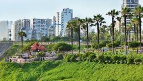 Parque del爱阿莫尔或公园在米拉弗洛雷斯区,利马,秘鲁 图库摄影