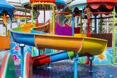 Parque del agua para los niños Foto de archivo libre de regalías